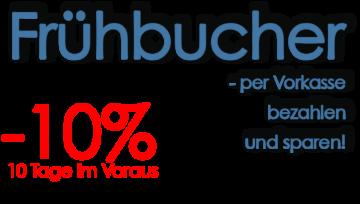 """Rabatt - Aktion """"Frühbucher"""" verlängert"""